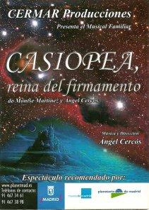 Cartel Casiopea, reina del firmamento
