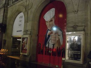 "Cartel de ""On the Town"" en el Teatro Châtelet"
