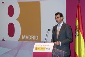 Momento del discurso de D. Felipe en Ficod 2008