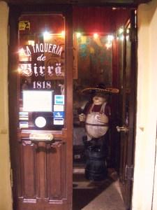 Entrada a La taquería de birra