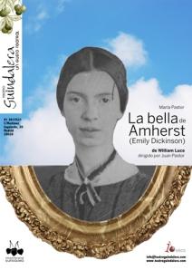"Cartel de ""La bella de Amherst (Emily Dickinson)"" en la Sala Guindalera"